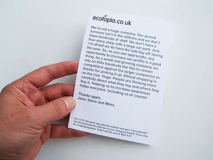 Ecotopia mailer
