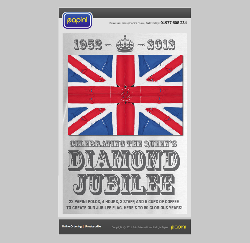 Papini jubilee email
