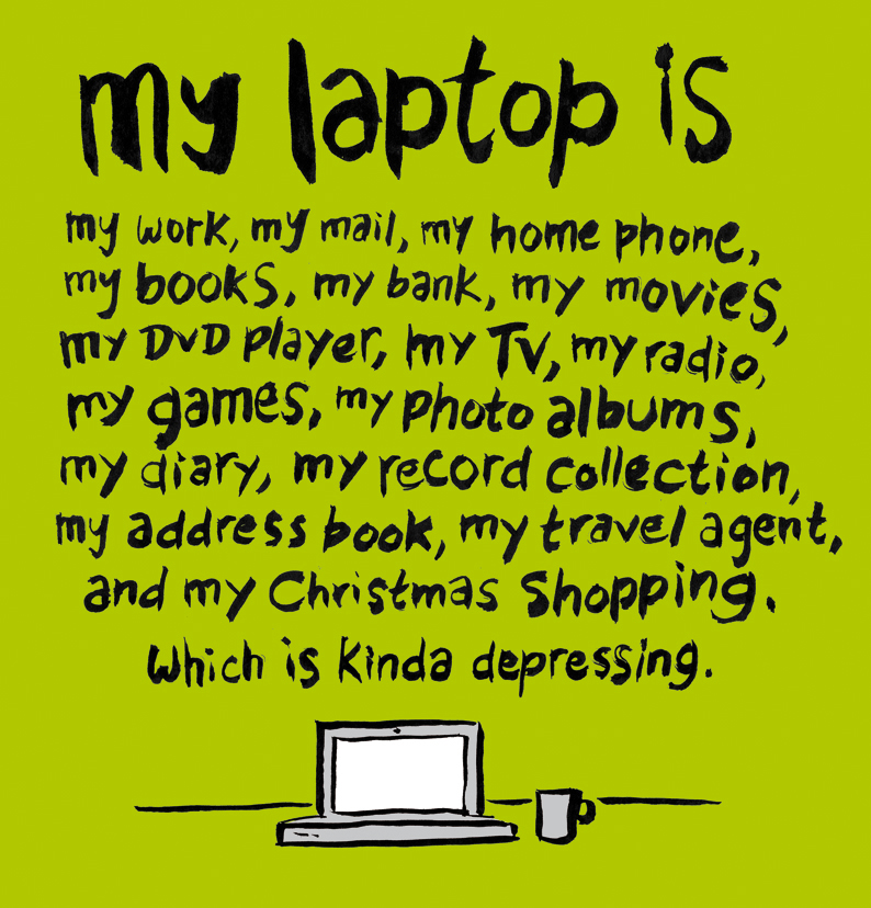 my laptop is
