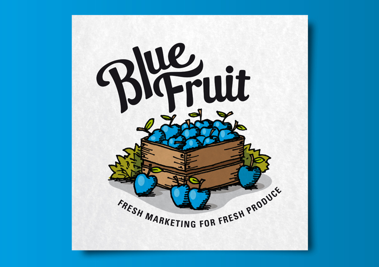 Blue Fruit brand identity