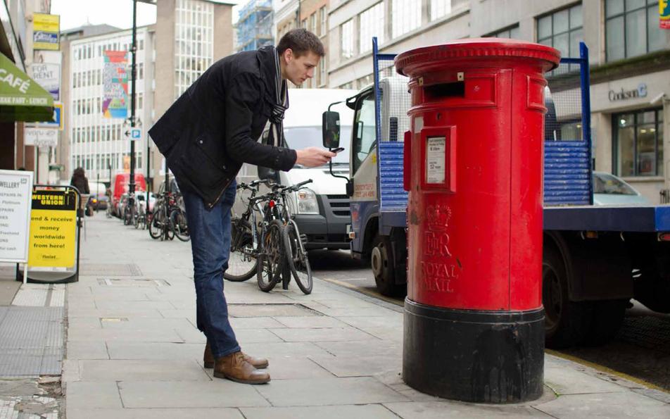 looking at postbox