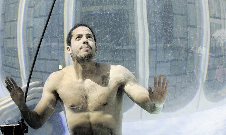 David Blaine underwater