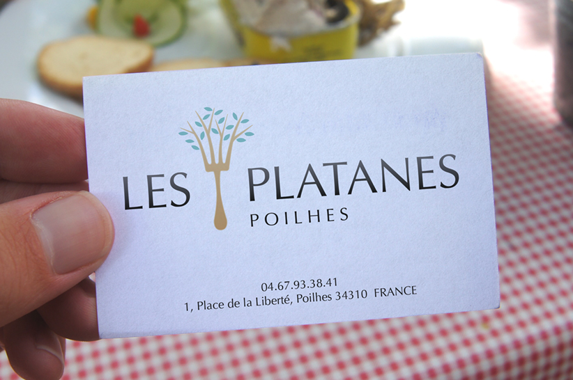 """Les Platanes"" restaurant identity"